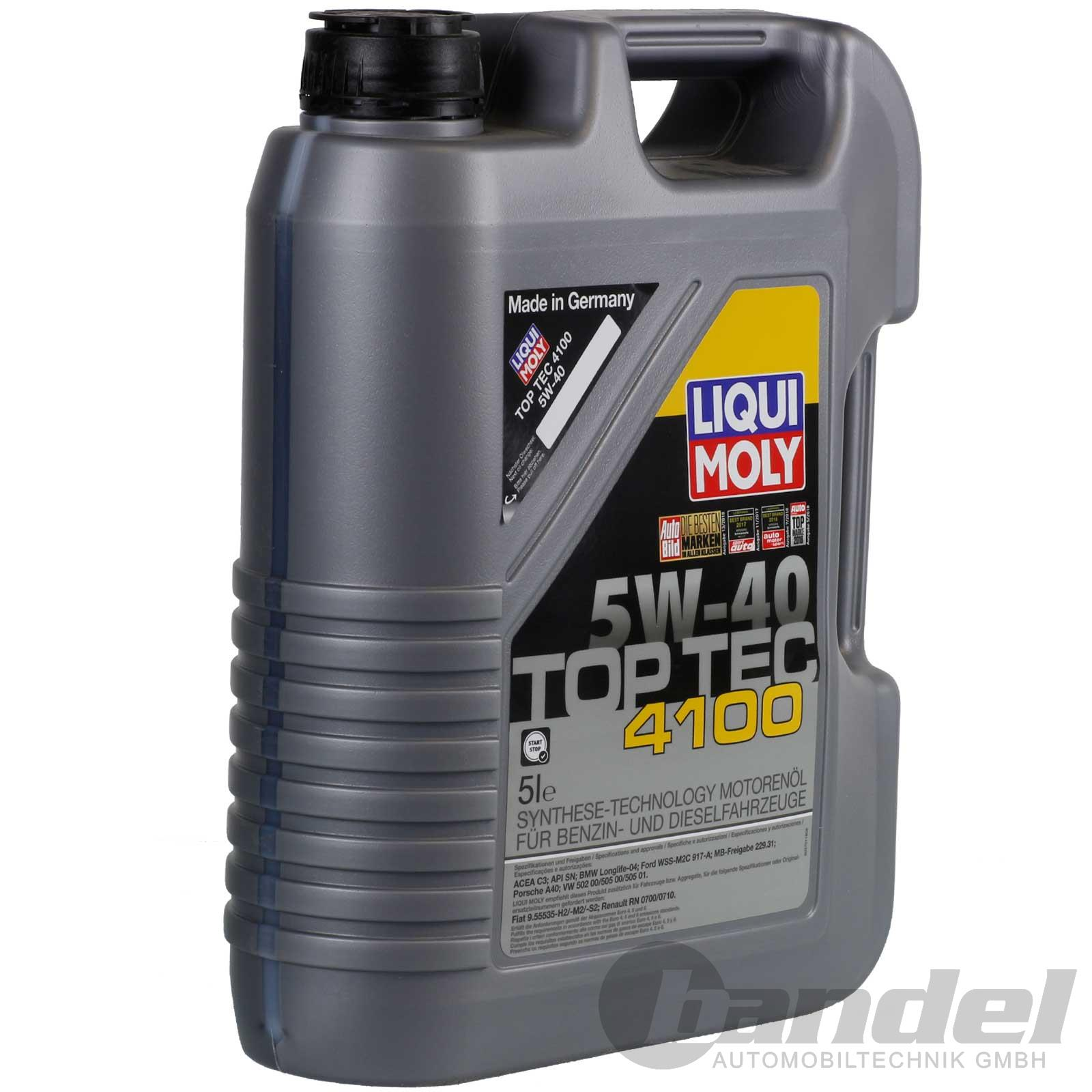 6 98 1l liqui moly top tec 4100 5w 40 motor l l 5 liter 5w40 bmw vw porsche ebay. Black Bedroom Furniture Sets. Home Design Ideas