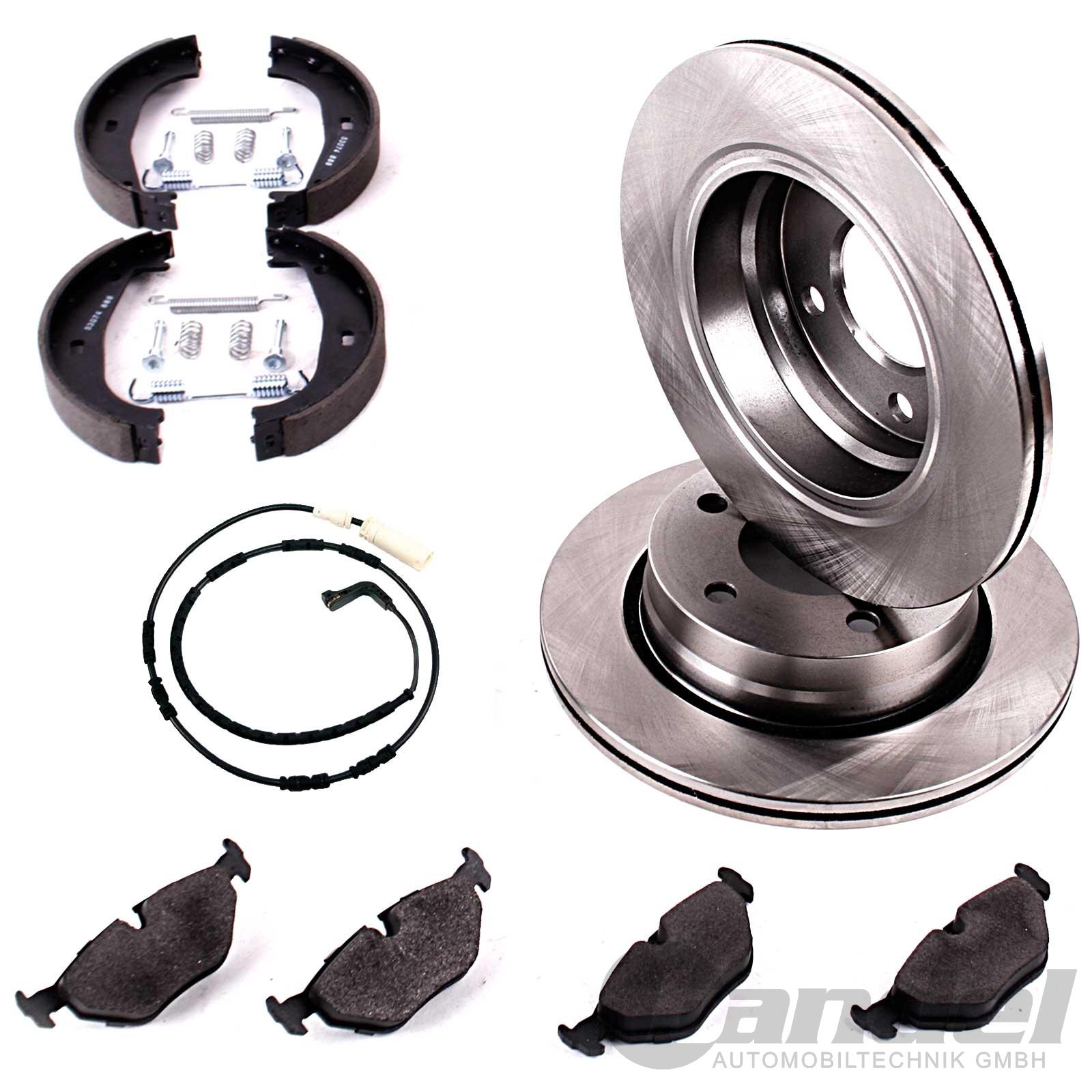 bremsscheiben bremsbel ge handbremsbacken hinten bmw. Black Bedroom Furniture Sets. Home Design Ideas