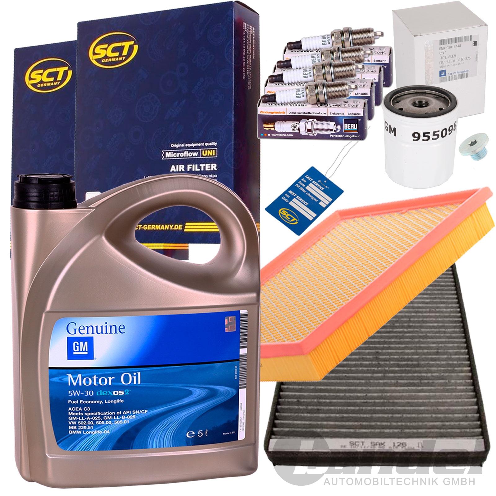 Filtre à air filtre à huile inspektionssatz Chevrolet Opel Set s
