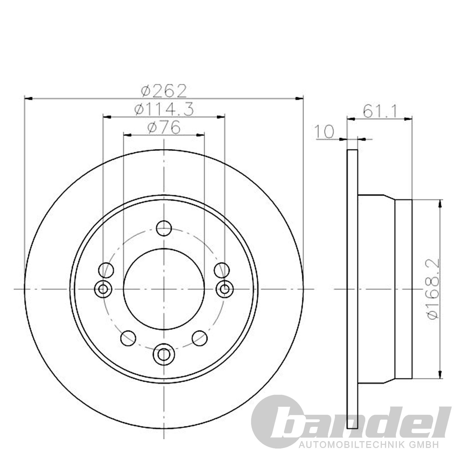 2 bremsscheiben 262mm bel ge hinten hyundai ix35 tucson. Black Bedroom Furniture Sets. Home Design Ideas