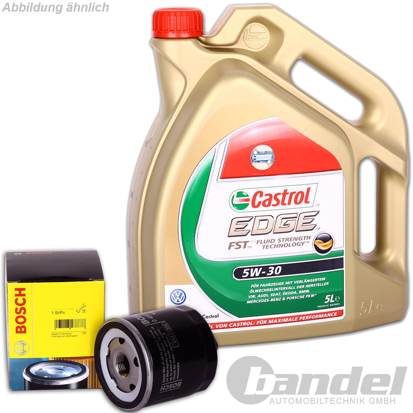 bosch lfilter 0451103314 5 liter motor l 5w 30 castrol. Black Bedroom Furniture Sets. Home Design Ideas
