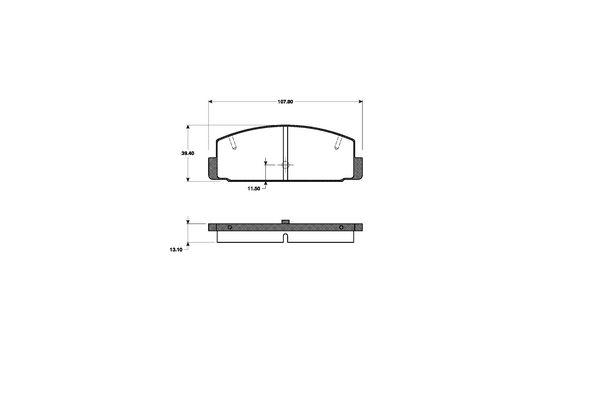 bremsscheiben bremsbel ge vorne 258mm hinten mazda 323. Black Bedroom Furniture Sets. Home Design Ideas