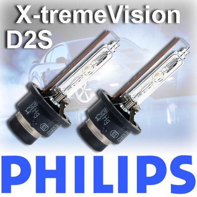 2er set philips xenon brenner lampe x treme vision d2s. Black Bedroom Furniture Sets. Home Design Ideas