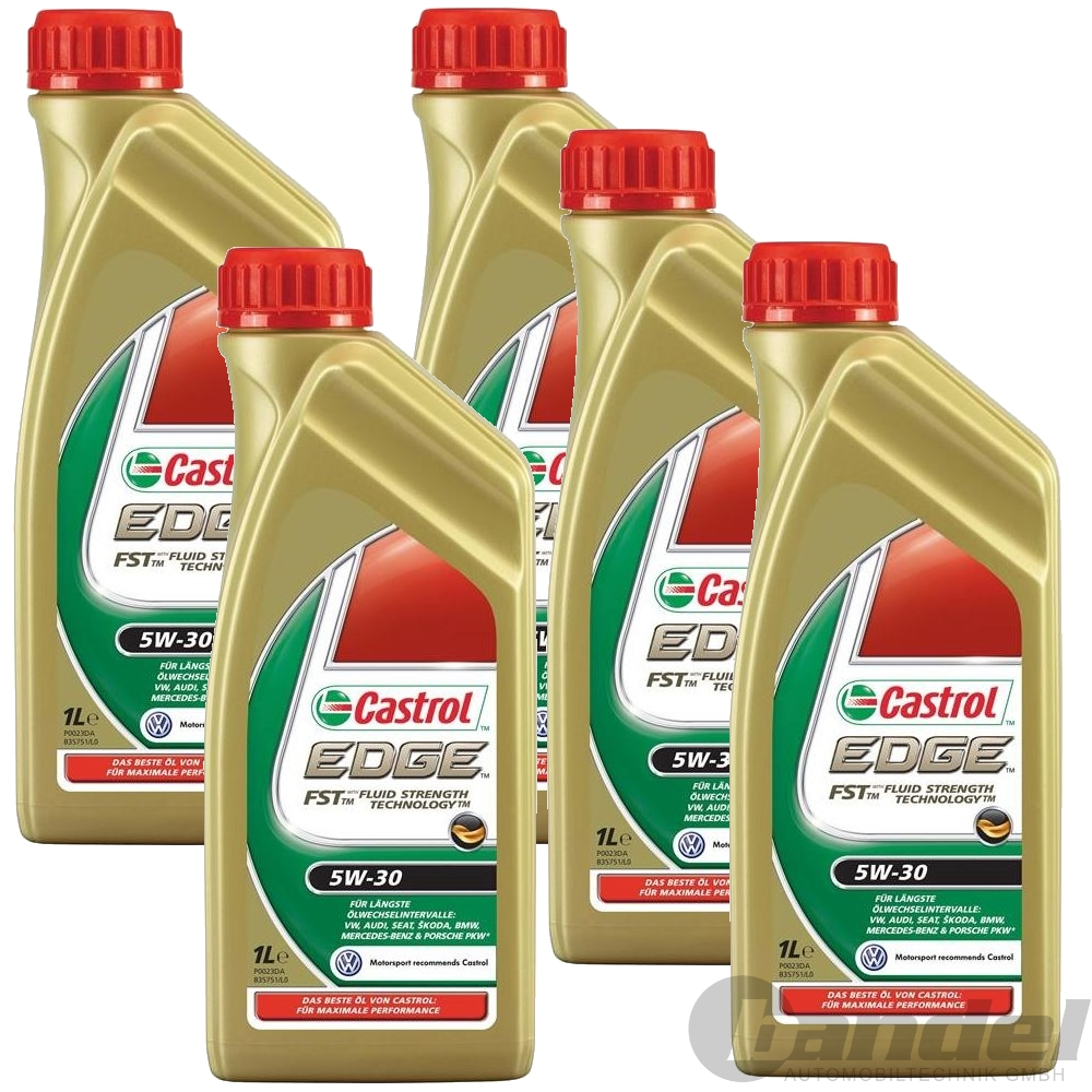 5x1l castrol edge fst 5w30 longlife 3 motor l 1 liter vw. Black Bedroom Furniture Sets. Home Design Ideas
