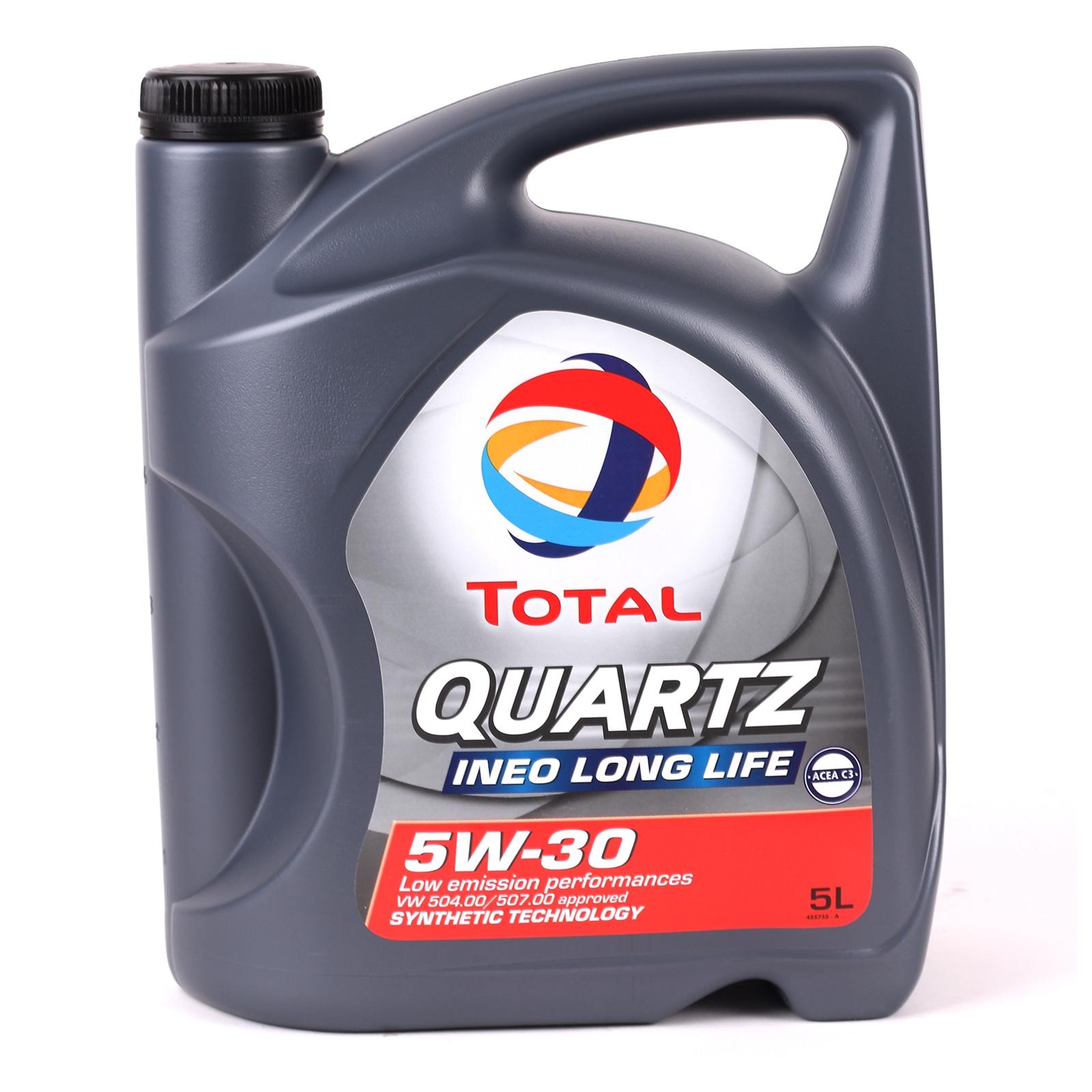 [€6,10/1L] 5 Liter TOTAL 5W-30 Ineo LongLife Motoröl 5W30 VW 504/507 BMW LL04 MB