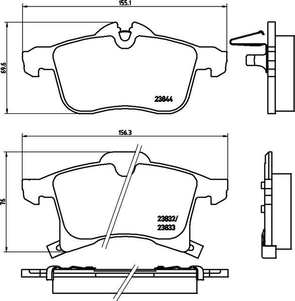 4 textar bremsscheiben bel ge vorne hinten opel astra. Black Bedroom Furniture Sets. Home Design Ideas
