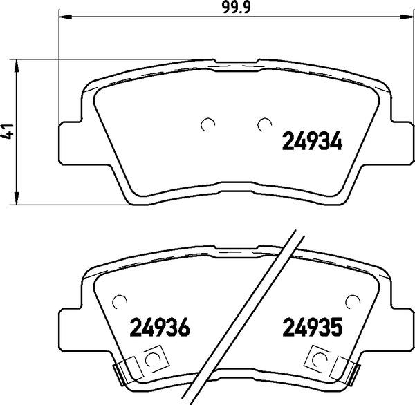 4 textar bremsscheiben bel ge vorne hinten hyundai. Black Bedroom Furniture Sets. Home Design Ideas