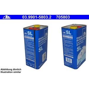 [4,78€/L] 5 Liter original ATE SL DOT 4 BREMSFLÜSSIGKEIT 5000 ml DOT4 Pic:1
