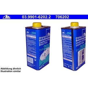 [14,49€/L] 1 Liter original ATE TYP 200 DOT 4 BREMSFLÜSSIGKEIT 1000ml Pic:1