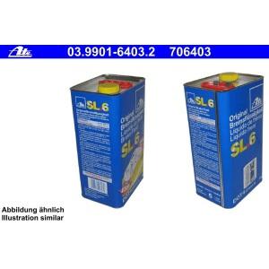 [5,78€/L] 5 Liter ATE SL.6 DOT 4 BREMSFLÜSSIGKEIT 5000ml DOT4 Pic:1