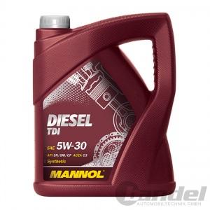 [4,14€/L] 5 Liter MANNOL SAE 5W-30 Diesel TDI Motoröl/ Öl für VW 505 01/ 50501