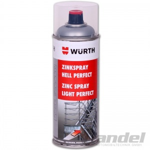 [29,75€/L] WÜRTH ZINKSPRAY HELL PERFECT 400ML Professionell Zink Spray Grund