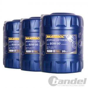 [2,35€/L] 3x20 Liter SAE 80W90 Mannol Hypoid Getriebeöl/ Schaltgetriebe ÖL