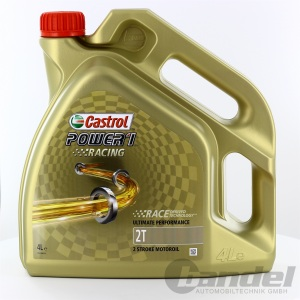 [8,98€/L] 4L CASTROL POWER 1 RACING 2T 2 TAKT ÖL VOLLSYNTHETISCH ROLLER API TC+