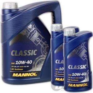 [3,14€/L] 7 Liter 10W40 PREMIUM MOTORÖL MANNOL SAE 10W-40 CLASSIC MB 229.1
