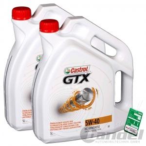 [4,89€/L] 10 LITER CASTROL GTX 5W-40  ACEA A3/B4 HC-SYNTHESE MOTORÖL