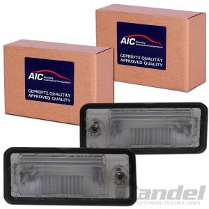 2x AIC KENNZEICHENLEUCHTE AUDI A3 (8P) + Sportback + A4 (B6 B7) + A6 (4F C6)
