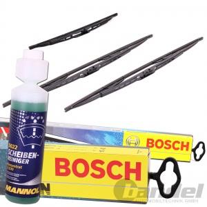 BOSCH TWIN 280 VORNE + Heckwischer H340 + 250ml SCHEIBEN-REINIGER 1:100