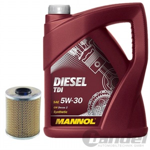 ÖLFILTER SCT SH410P + 5 Liter Motoröl MANNOL DIESEL TDI SAE 5W-30 BMW LONGLIFE-0