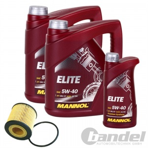 ÖLFILTER SCT SH4045P + 9 Liter Motoröl MANNOL ELITE SAE 5W-40 SM/CF ACEA A3/B4