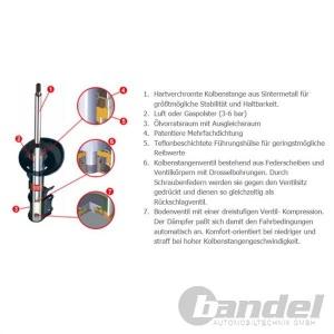 1 KYB Excel-G Gasdruck STOSSDÄMPFER HINTEN 341205 Audi Pic:3