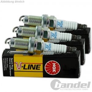 3x NGK ZÜNDKERZE V-LINE 9 BPR5EY, 3153 3 Zylinder-Motoren KOMPLETT-SET