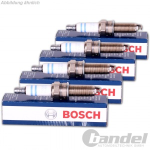 4x original BOSCH Zündkerzen plus +8 FR7DC+ 0242235666
