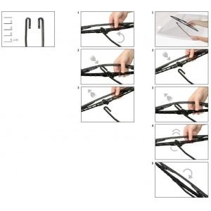 BOSCH TWIN SCHEIBENWISCHER VORNE 650U 650mm RENAULT TWINGO MITSUBISHI COLT VI Pic:2