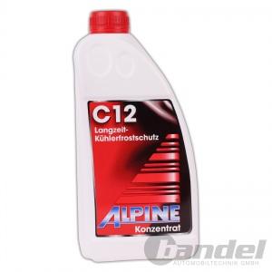 [3,99€/L] ALPINE KÜHLERFROSTSCHUTZ C12 KONZENTRAT ROT 1,5L / Antifreeze G12
