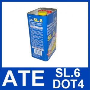 [€ 5,68/1 Liter] 5 Liter original ATE SL.6 DOT 4 BREMSFLÜSSIGKEIT 5000ml DOT4