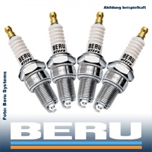 4x BERU ULTRA Zündkerze Z184 14FR-7MU2 4 Zylinder Motor KOMPLETT-SET