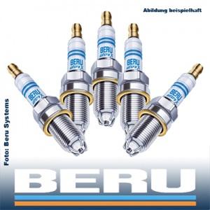 5x original BERU Zündkerze UXT2 ULTRA-X TITAN 5 Zylinder-Motoren KOMPLETT-SET