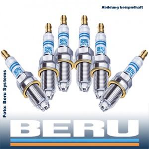 6x BERU Zündkerze UXT1 ULTRA-X TITAN 6 Zylinder-Motoren KOMPLETT-SET