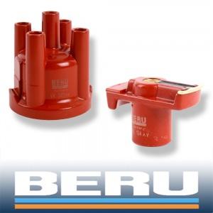 BERU VERTEILERKAPPE + VERTEILERFINGER VW GOLF 2 3 PASSAT POLO 6N LUPO SEAT SKODA