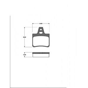 BREMSSCHEIBEN + BELÄGE HINTEN CITROEN XM (Y3/Y4) 1989-2000 2.0i + TURBO + 3.0 V6 Pic:2