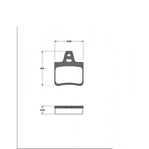 BREMSSCHEIEBN 224mm massiv + BELÄGE HINTEN CITROEN XANTIA (X1 X2) 1993-2003 Pic:2