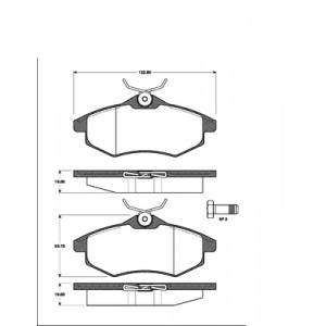 2 BREMSSCHEIBEN 266mm MASSIV + BELÄGE VORNE CITROEN C3 (FC_) 1.1 + 1.4 2002-2009 Pic:2