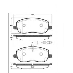 2 BREMSSCHEIBEN 285mm + BELÄGE VORNE CITROEN C8 FIAT SCUDO PEUEGOT EXPERT Pic:2