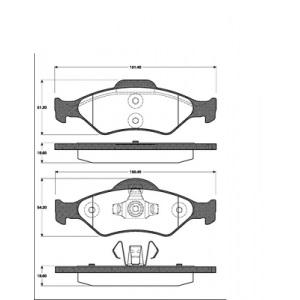 2 BREMSSCHEIBEN 239,5mm belüftet + BELÄGE VORNE FORD KA (RB_) AB Bj. 02.2000 Pic:2