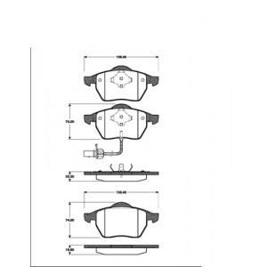 2 BREMSSCHEIBEN 288mm + BREMSBELÄGE VORNE VW SHARAN FORD GALAXY ALHAMBRA Pic:2