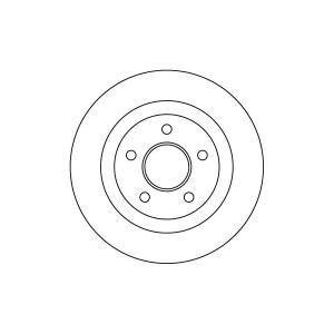 BREMSSCHEIBEN 278mm + BREMSBELÄGE HINTEN FORD TOURNEO CONNECT MIT ABS Pic:1