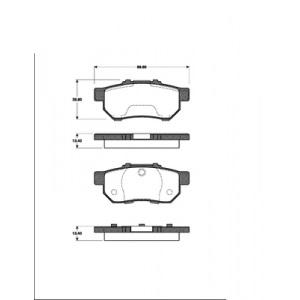 2 BREMSSCHEIBEN 260mm+ BELÄGE HINTEN HONDA CIVIC 7 TYPE-R  2001-2005 Pic:2