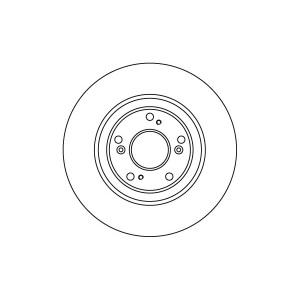 BREMSSCHEIBEN 300mm + BREMSBELÄGE VORNE HONDA CIVIC VII 5-LOCH FELGEN BREMSE Pic:1