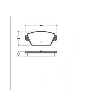 1 SATZ BREMSBELÄGE HINTEN MITSUBISHI COLT III  ECLIPSE I  GALANT III + IV Pic:1
