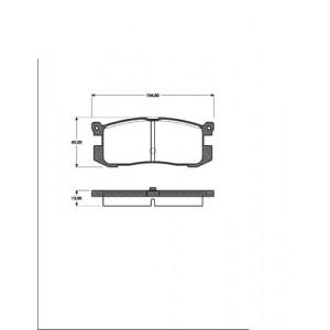 2 BREMSSCHEIBEN 259mm + BELÄGE HINTEN MAZDA 626 GD FORD PROBE 1 1987-1992 Pic:2