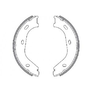 2 BREMSSCHEIBEN + BREMSBELÄGE + HANDBREMSE HINTEN MERCEDES-BENZ 190 W201 2.0-2.6 Pic:3