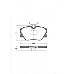 BREMSSCHEIBEN Ø284mm belüftet + BELÄGE VORNE MERCEDES 190 W201 E 2.3 2.5-16 W124 Pic:2