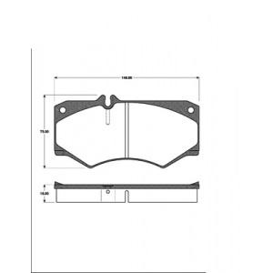 BREMSSCHEIBEN 303mm massiv + BELÄGE VORNE MERCEDES G-KLASSE G-MODELL W463 W460 Pic:2