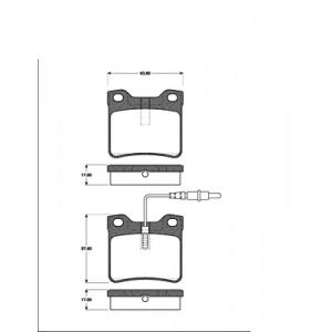2 BREMSSCHEIBEN + BELÄGE + HANDBREMSE MERCEDES W638 VIT V-KLASSE Pic:2