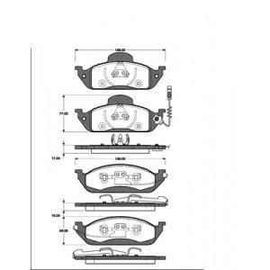 2 BREMSSCHEIBEN 303mm + BELÄGE VORNE MERCEDES M-KLASSE ML W163 Pic:2